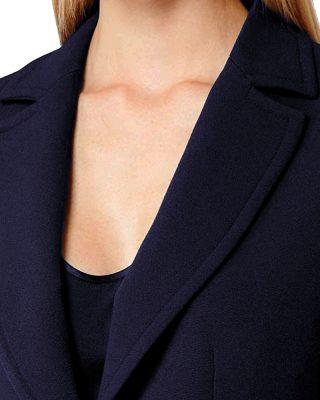 Blazer Azul Marinho Feminino Forrado