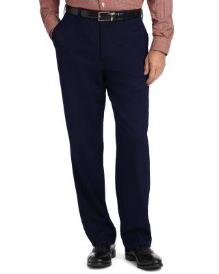 Calça Social Masculina Azul Marinho em Gabardine