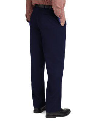Calça Social Masculina Azul Marinho em Oxford
