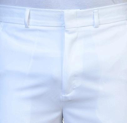 Calça Social Masculina Branca em Gabardine