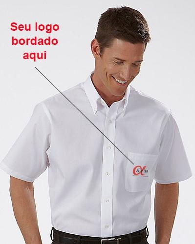 334b26c2fa Camisa Social Masculina Manga Curta Personalizada - Kit c  4pçs ...