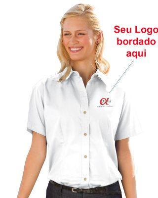Camisa Social Feminina Personalizada – Kit c/ 4 pçs