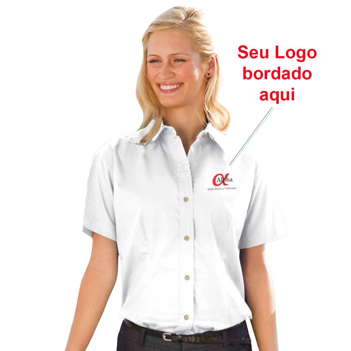 cda37ba999 Camisa Social Feminina Personalizada - Kit c  4 pçs - Alpha Moda Social