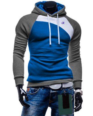Blusa de Moletom com elastano Style Cinza Mescla – Slim Fit