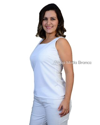 Blusinha Spencer regata Branca