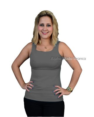 Blusinha Spencer regata Chumbo