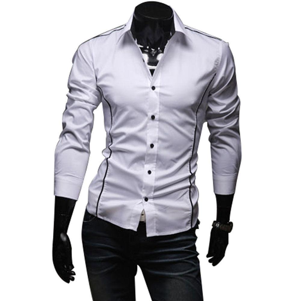 1a15fcab8e Camisa Social Masculina Manga Longa Slim Fit - Alpha Moda Social