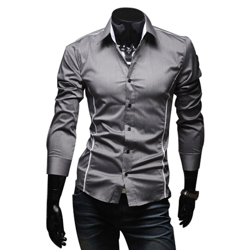 De marca para hombre camisa 2015 100% algodón slim fit
