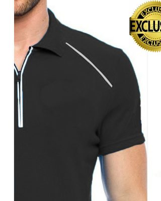 Camisa Pólo Personalizada com frisos e zíper Kit com 4 pçs