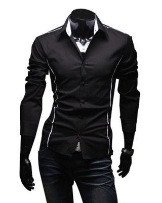 Camisa Social Masculina Manga Longa Slim Fit