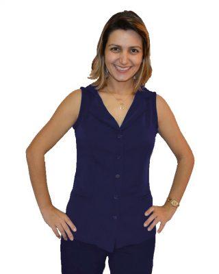 Colete Social em Two way – Azul Marinho