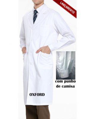 Jaleco Masculino Gola Esporte com punho de camisa- Tecido Oxford