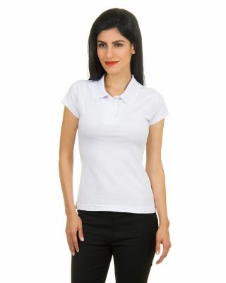 Camisa Camiseta Polo Feminina Baby Look – Manga Curta