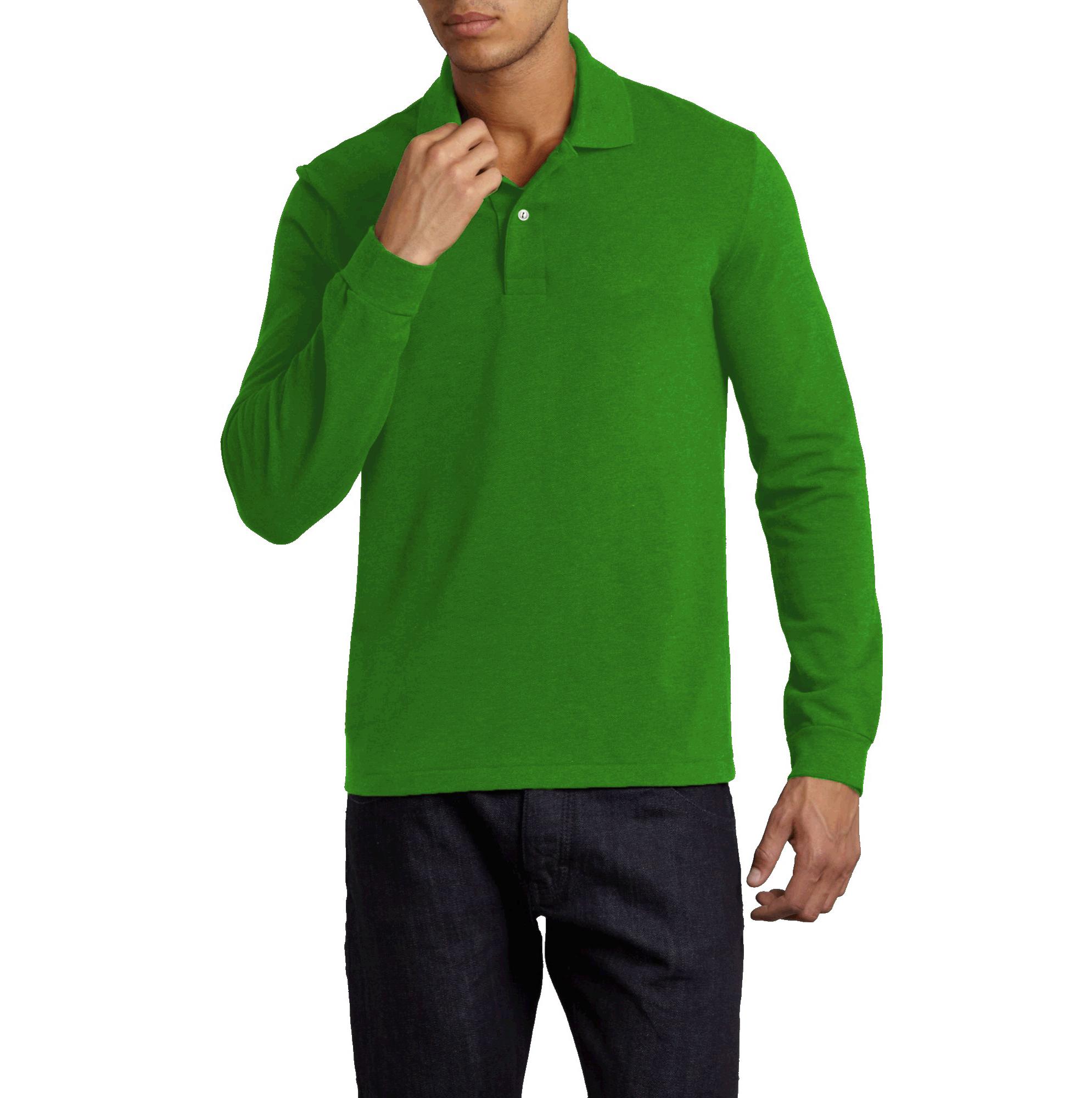 f11a6bd4ab Camisa Pólo Masculina - Manga Longa - Alpha Moda Social