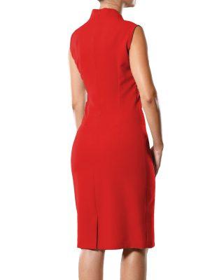 Vestido Tubinho Gola Japonesa Vermelho