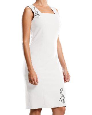 Vestido Floral arábico bordado