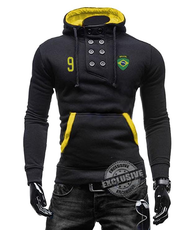 Blusa do brasil copa do mundo de moleton preta Slim fit frente preta e  amarela - Alpha Moda Social 4fc9658c6dccb
