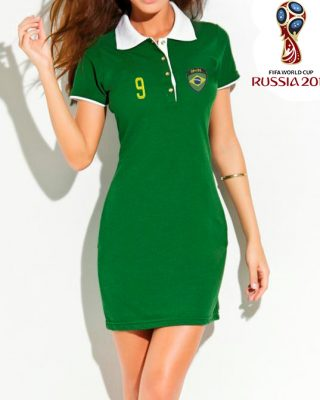 Vestido Polo do Brasil – verde – copa do mundo Rússia 2018