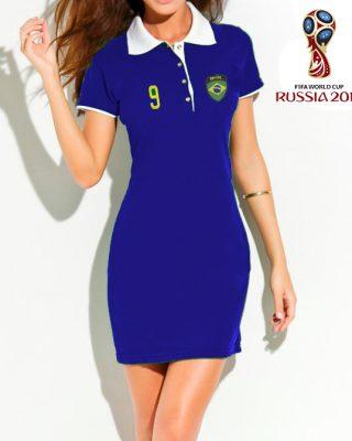 Vestido Polo do Brasil – azul – copa do mundo Rússia 2018