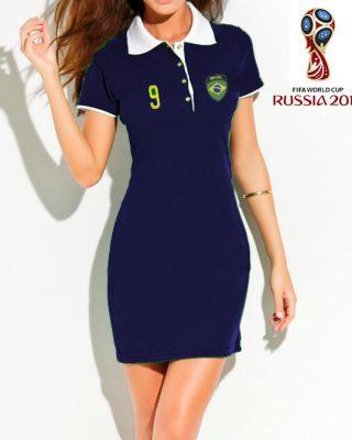 Vestido Polo do Brasil – azul marinho – copa do mundo Rússia 2018