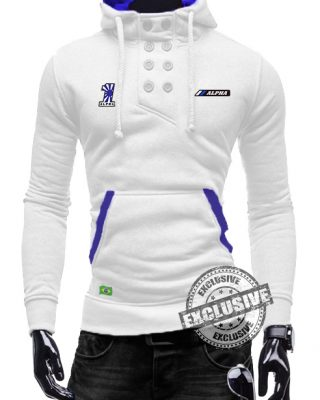 Blusa De Moletom Branca Alpha Sports