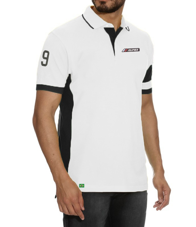 630854ef93 Camisa Pólo Alpha Sports Mod 1 - Exclusive - Alpha Moda Social