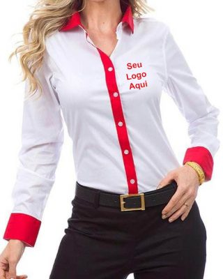 Camisa Feminina Personalizada com detalhes kit c/ 4 pç