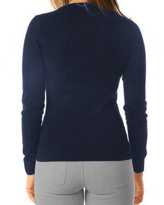 Blusa de Lã feminina Azul Marinho