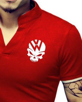 Camisa Camiseta Gola Alta Decote V Slim Fit Elastano – Volks