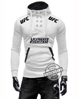 Blusa De Moletom Branca ou Preta UFC com elastano
