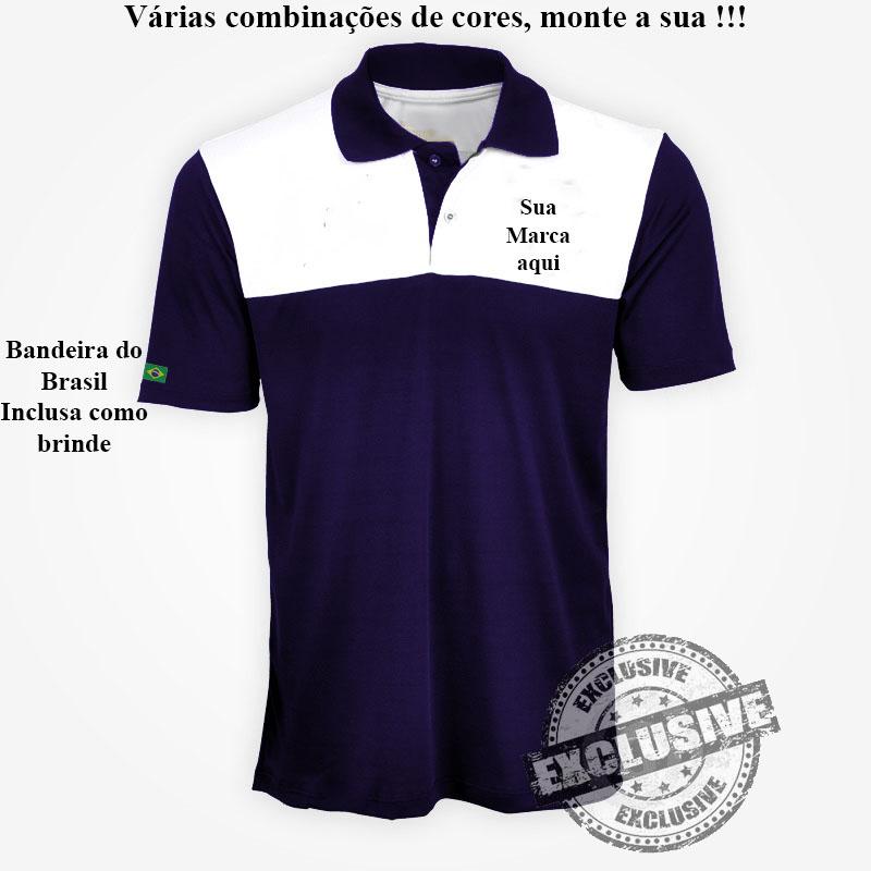 4d041b986 Pólo Masculina ou Feminina Modelo 8 Exclusivo - Personalizada - Kit ...