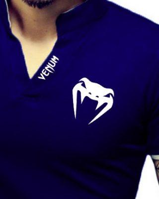 Camisa Camiseta Gola Alta Decote V Slim Fit Elastano – Venum
