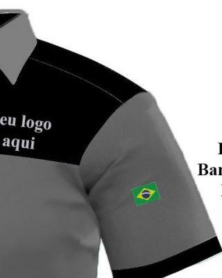 Camisa Masculina para fardamentos e uniformes profissionais – Kit c/ 4pçs