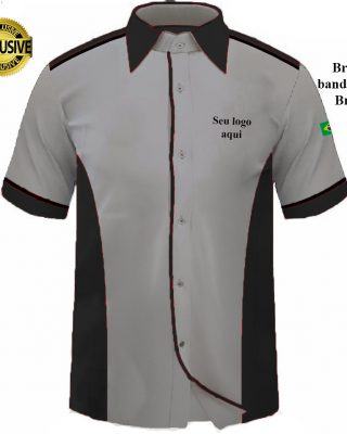 Camisa Masculina Personalizada para uniformes e fardamentos – Kit c/ 4pçs