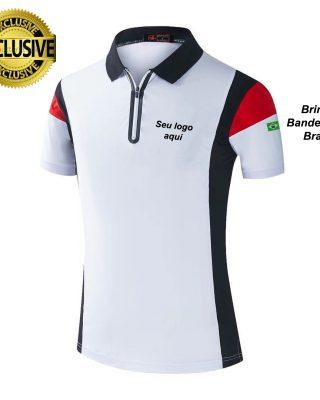 Camiseta Pólo Personalizada modelo diferenciado Kit com 4 pçs