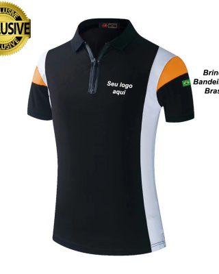 Camiseta Pólo Personalizada Kit com 4 pçs
