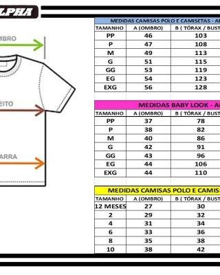 Camiseta básica branca gola V franquia Premyer kit com 10 pçs