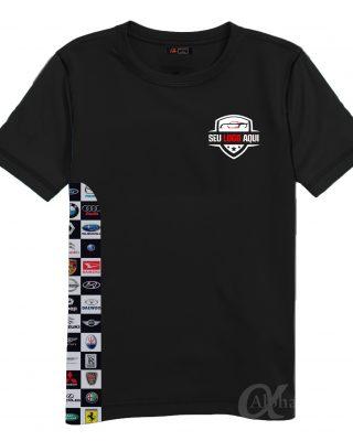 Kit 10 pçs Camisetas Personalizadas com o logo da sua empresa e marcas de carros
