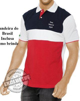 Camisa Pólo Personalizada modelo exclsivo Kit com 4 pçs
