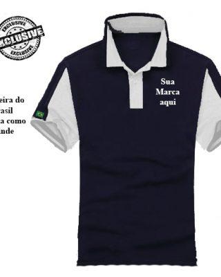 Camisa Pólo Personalizada modelo diferenciado Kit com 4 pçs