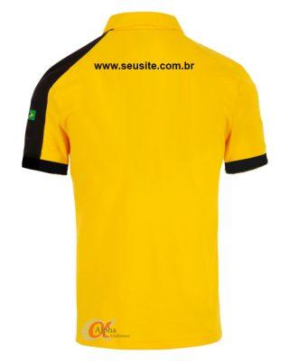 Camisa Polo Personalizada com fecho – zíper Kit com 4 pçs