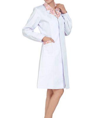 Jaleco Avental Feminino Acinturado Enfermagem Tecido Gabardine