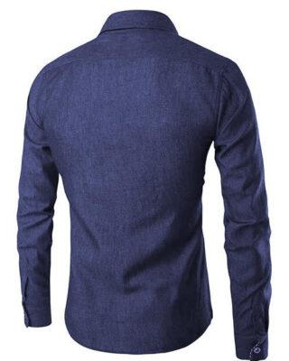 Camisa cor Jeans feminina e/ou masculina personalizada para uniformes fardamentos profissionais – Kit c/ 4pç