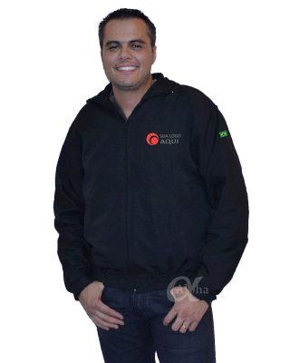 Jaqueta blusa de frio corta vento personalizada kit 4 pçs + Brinde
