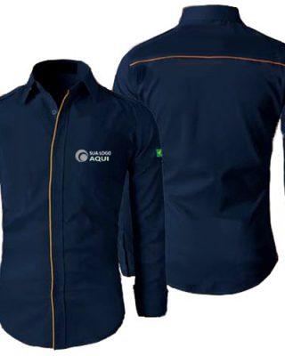 Camisa social para uniformes personalizados kit 4 pçs
