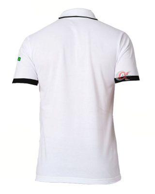 Camisa colarinho interno quadriculado com o seu logo – Kit 4 pçs
