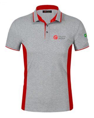 Camisa camiseta personalizada polo com recortes diferenciados bordado o seu logo – Kit 4 pçs