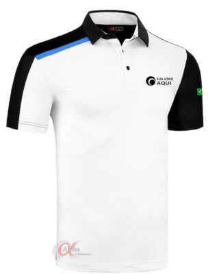 Camisa com bordado logotipo no peito – kit 4 pçs
