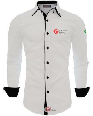 Camisa de algodão tecido fresco e leve – kit 4 pçs