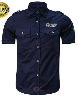 Camisa work shirt militar personalizada – 4 pçs